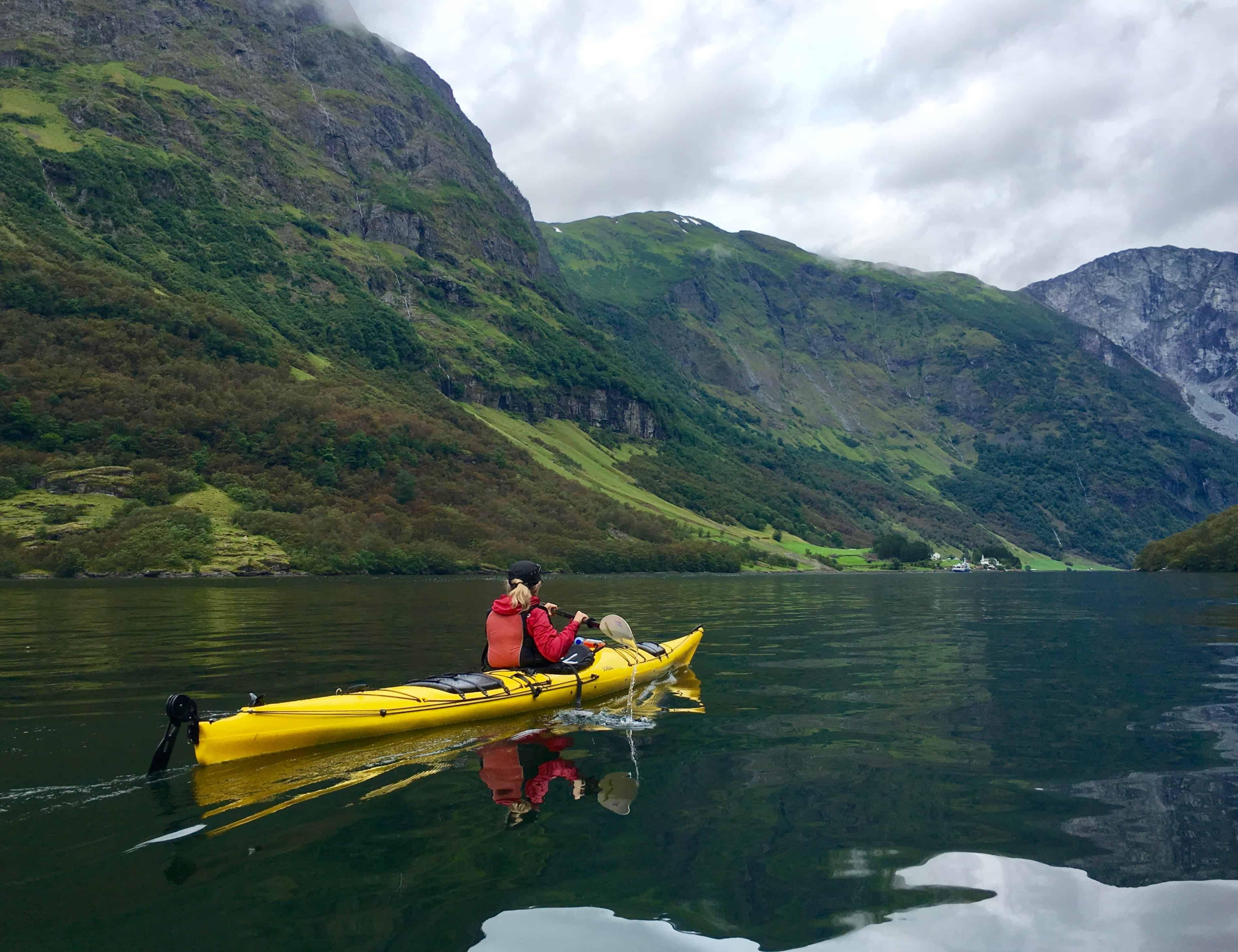 Dan in a quiet moment on Naeroyfjord