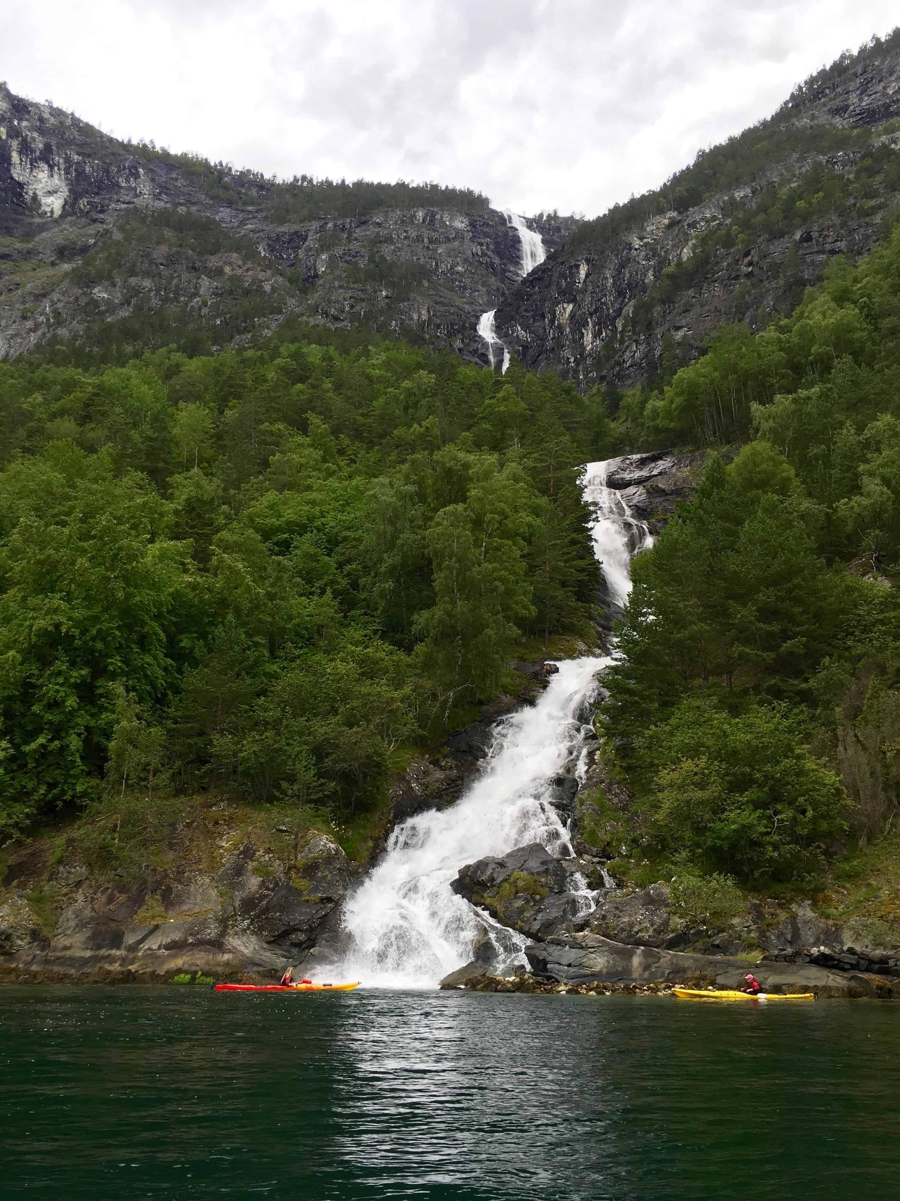 Waterfall on the Naeroyfjord