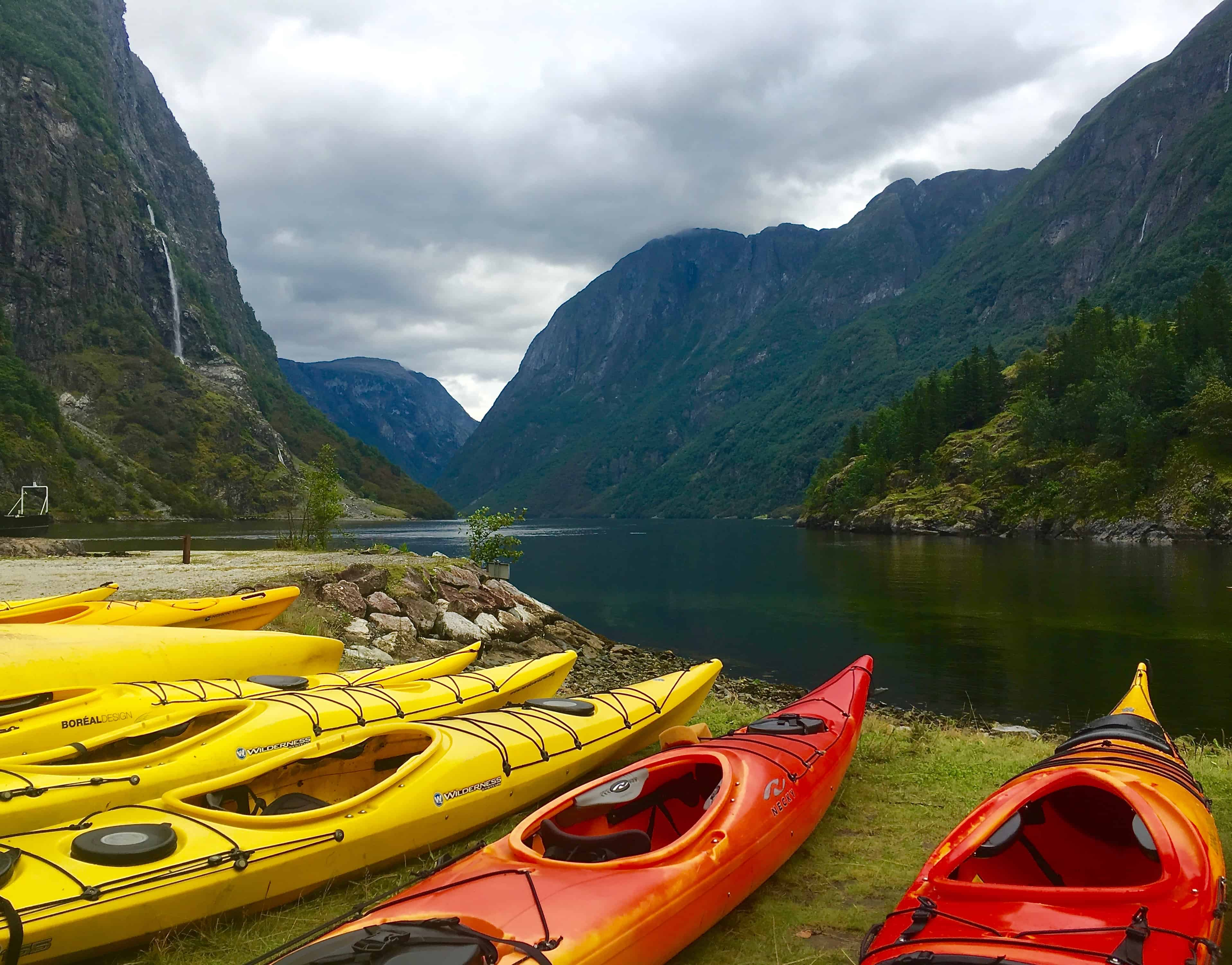 Kayaking The Naeroyfjord In Norway - Two For The World