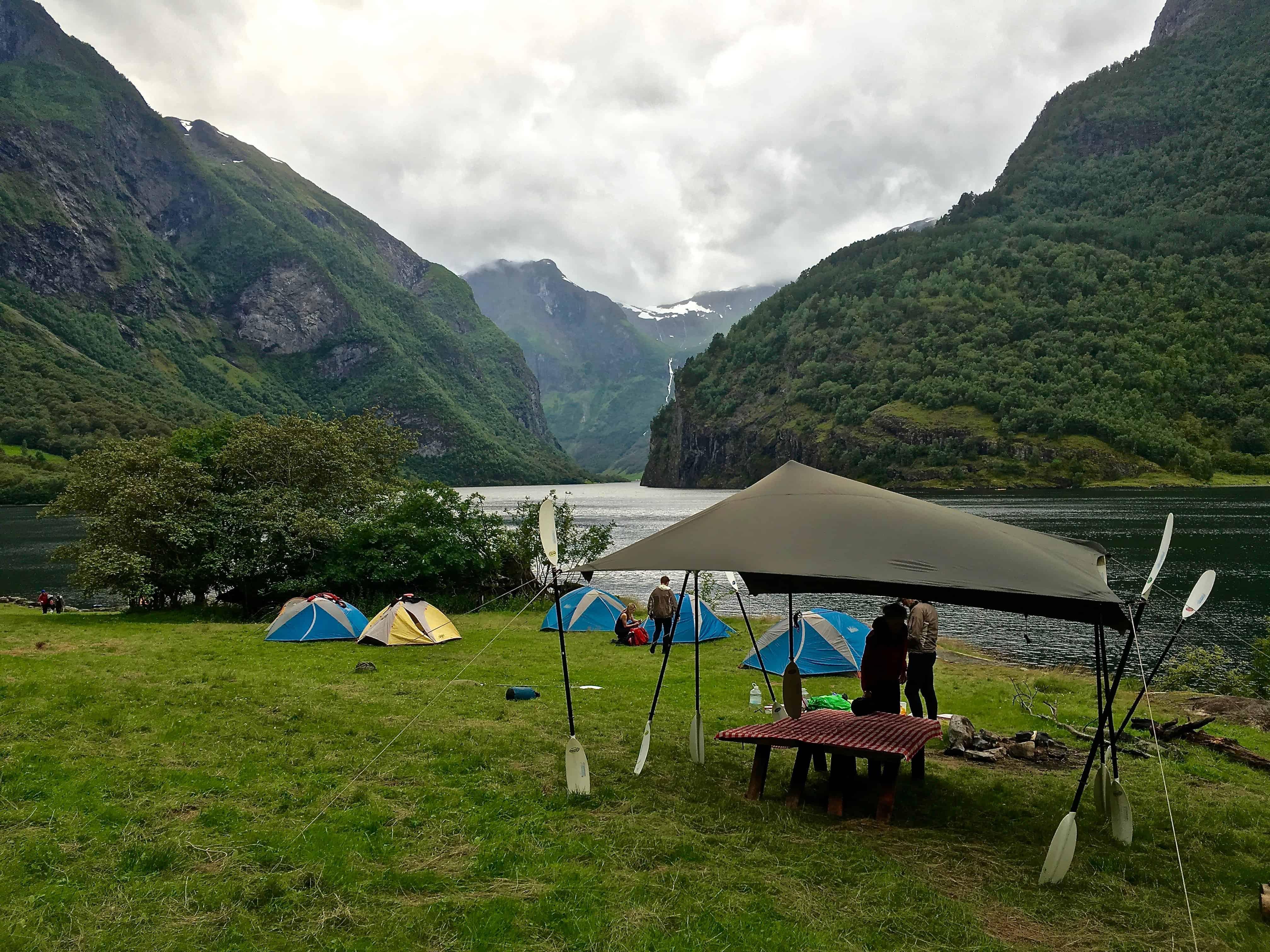 Kayak tour campsite