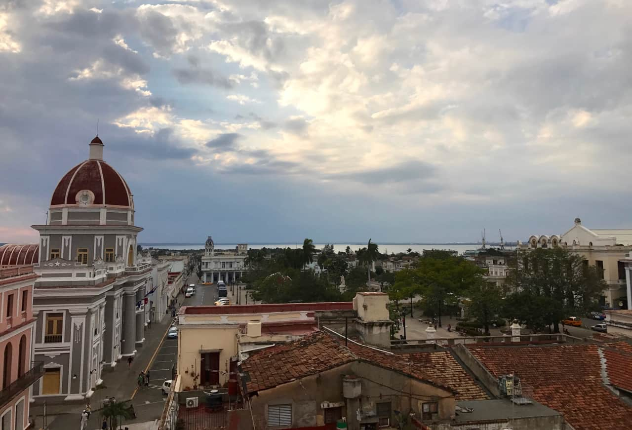 During our two weeks in cuba, we take in historic views over Cienfuegos from Bar Terrazza.