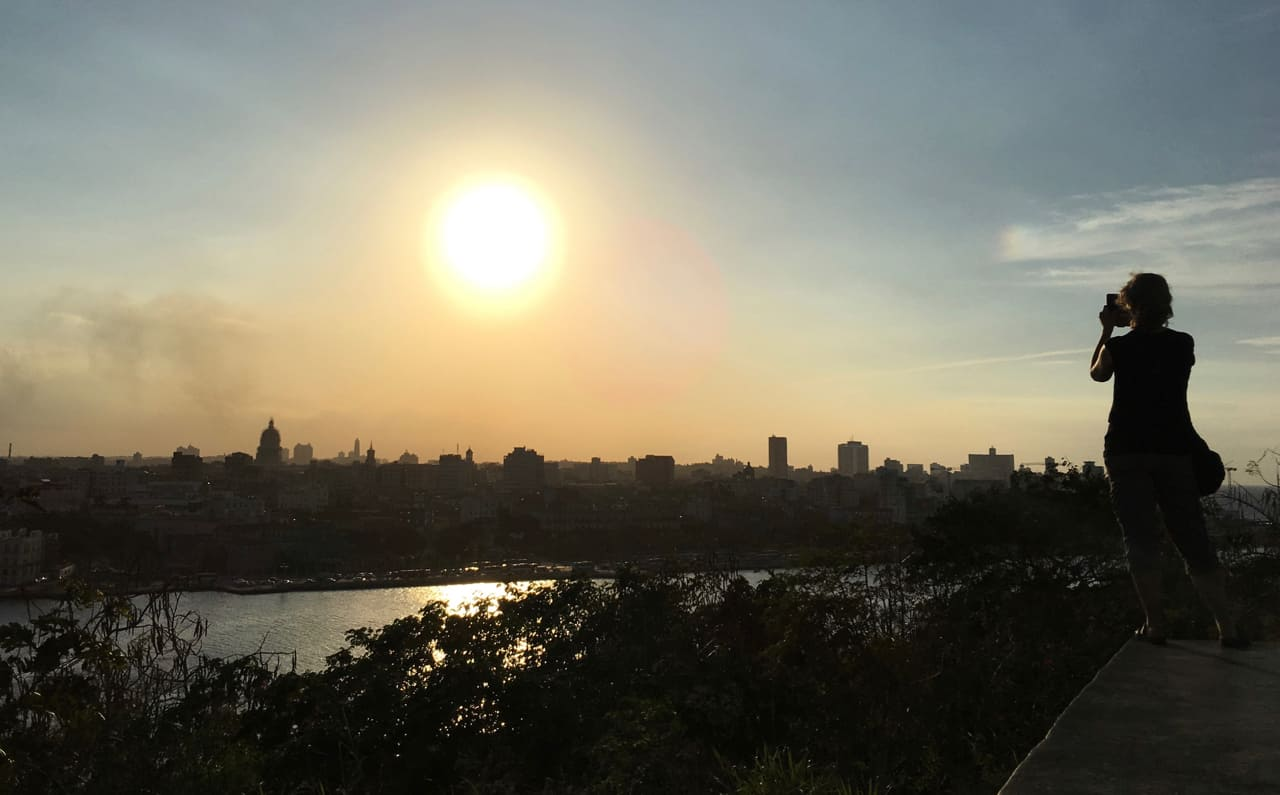 The sun sets over Havana: A fitting end to two weeks in this unique country..