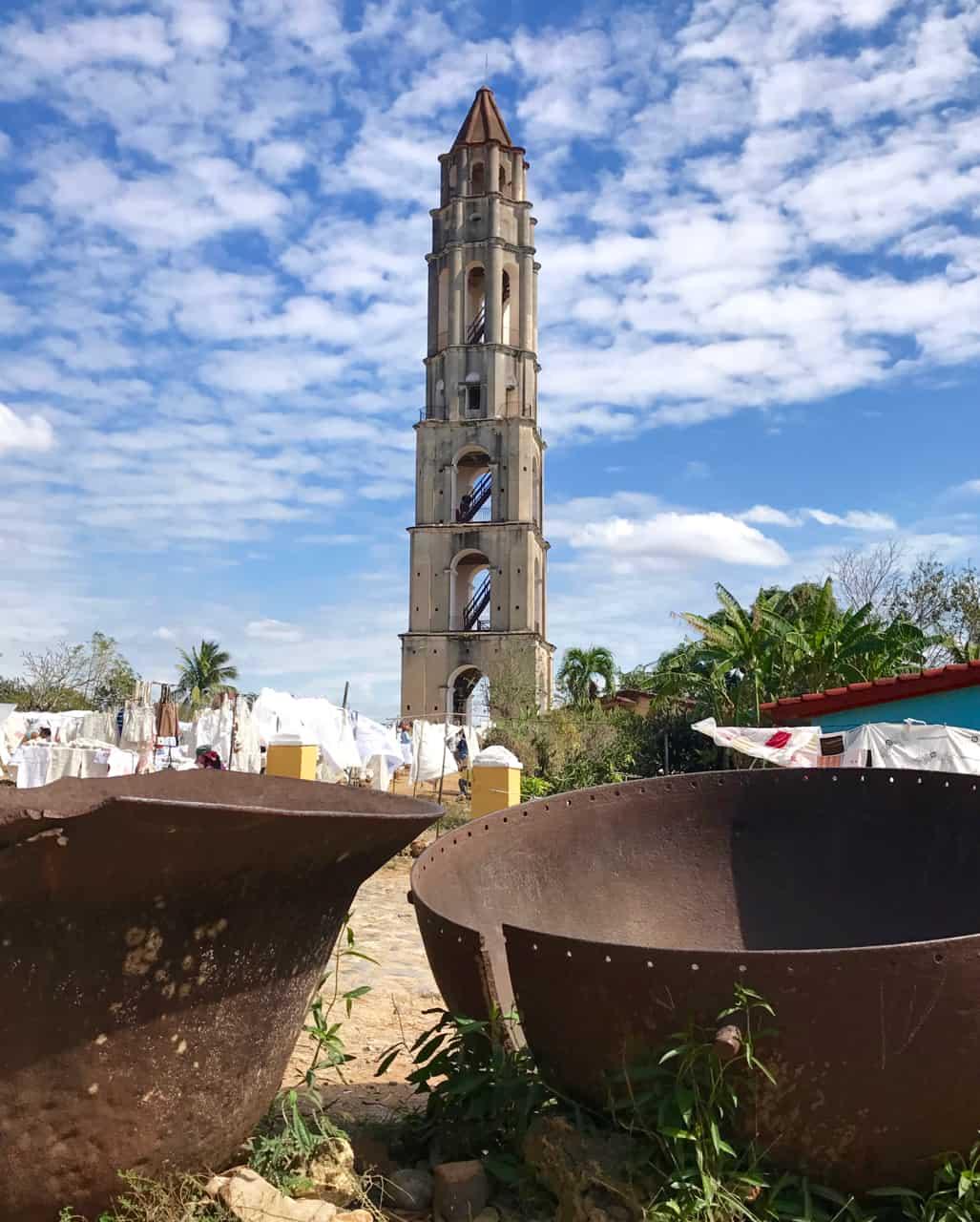Two weeks in Cuba: Climb the tall tower at the historic sugar mill ruins of Manaca Iznaga near Trinidad.