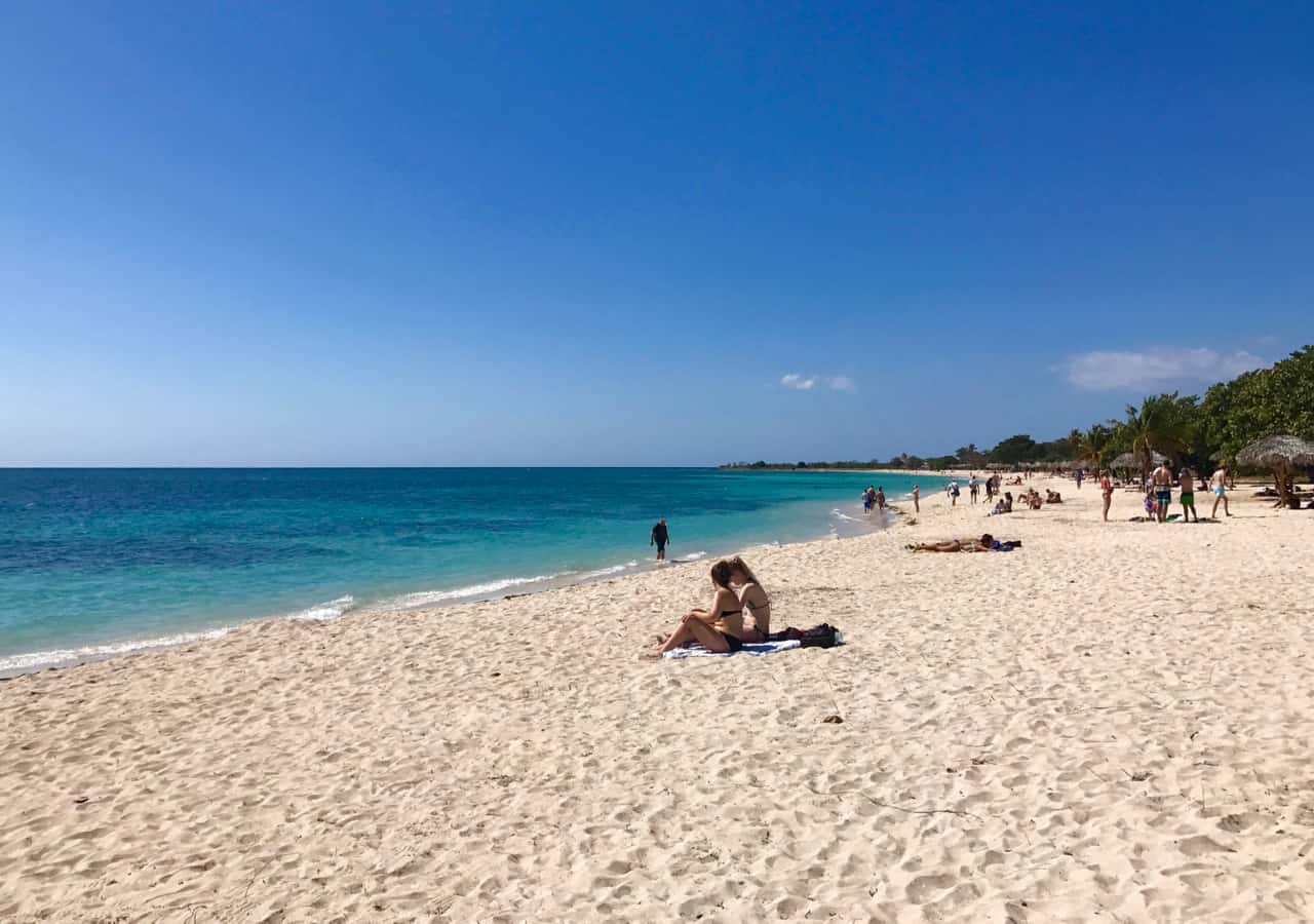 Our 15 Day Itinerary includes beach time on the white sands of Play Ancon near Trinidad.