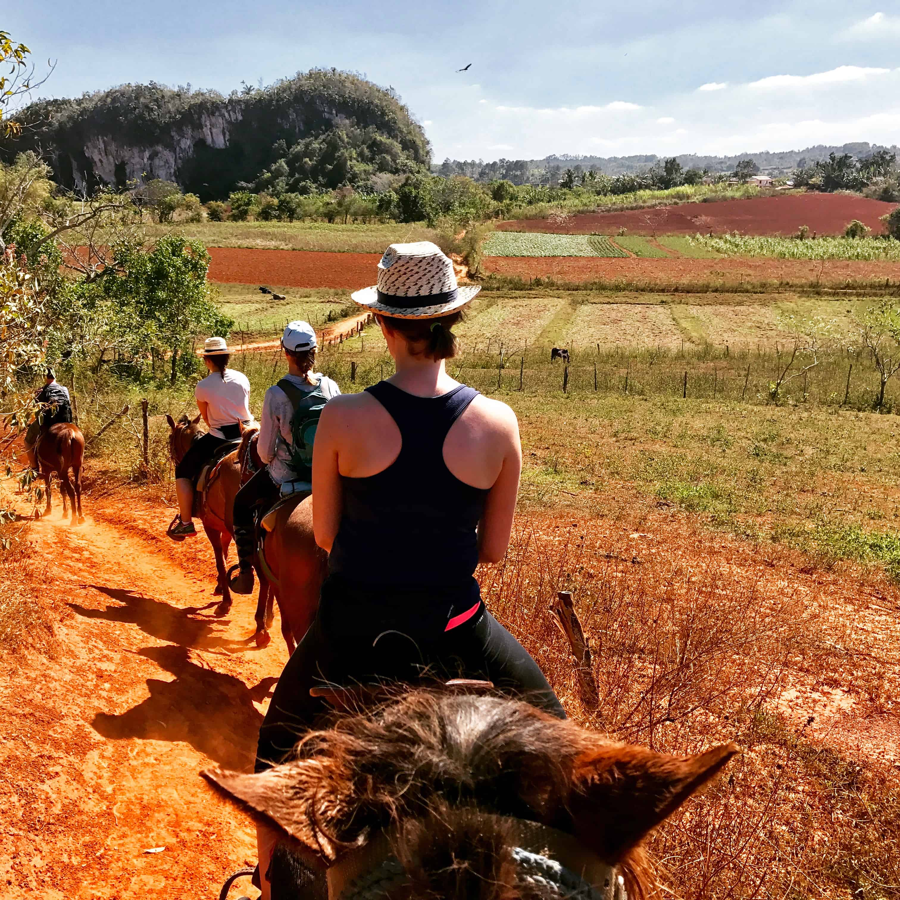 A 15 day itinerary in Cuba offers time for pursuits like horseriding into the countryside of Vinales.
