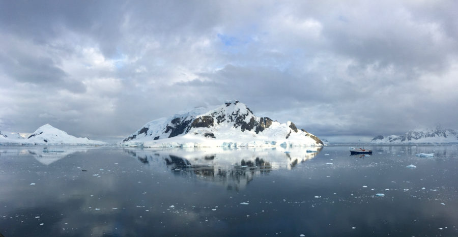View over the bay from Brown Station in Antarctica