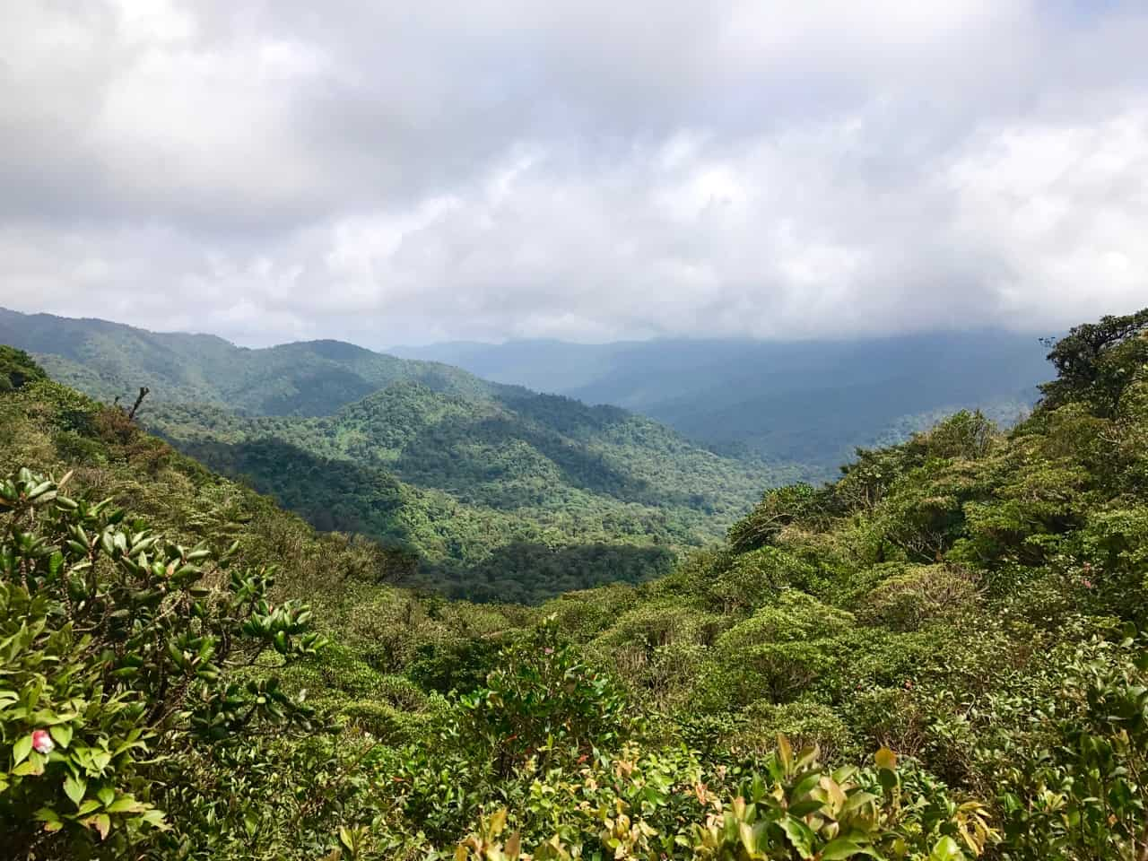 View of the Continental Divide from Monteverde Cloud Forest, one of the best parks in Costa Rica.