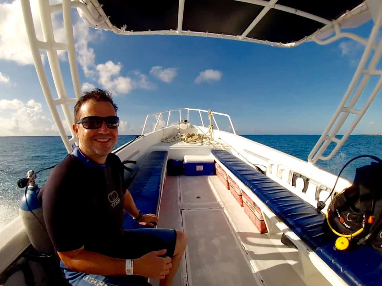 Cozumel Diving - Empty Dive Boat