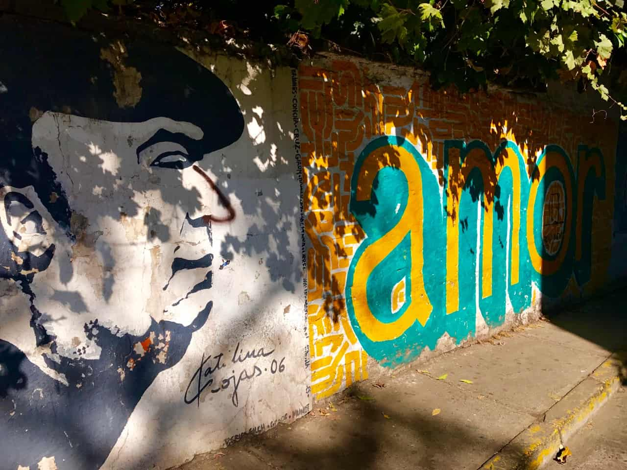 Things to do in Santiago - Street art is everywhere in Santiago, with Pablo Neruda as a popular theme