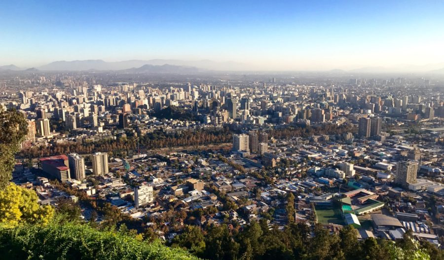 View of Santiago from Cerro San Cristobal
