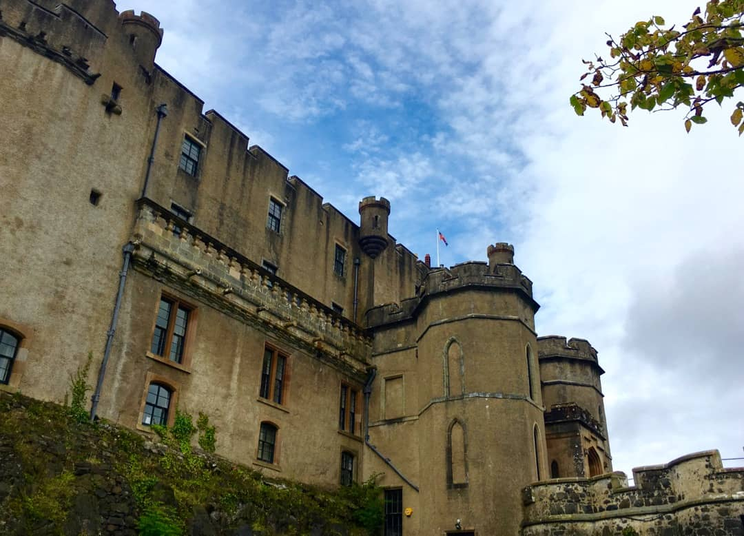 Dunvegan Castle, the ancient seat of the Macleod chiefs.