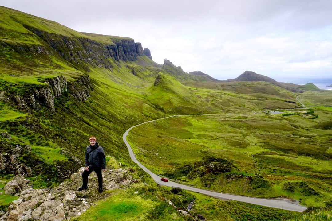 Views over the stunning Quiraing, highlight of an Isle of Skye road trip.