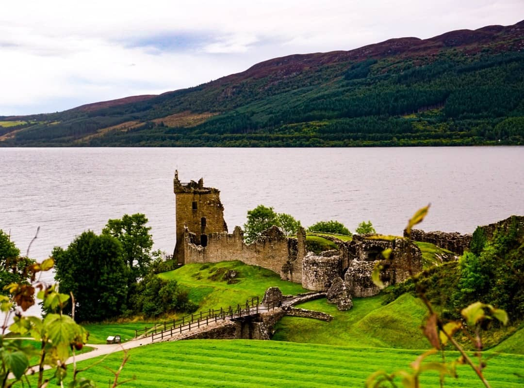 The ruins of Urquhart Castle on Loch Ness.