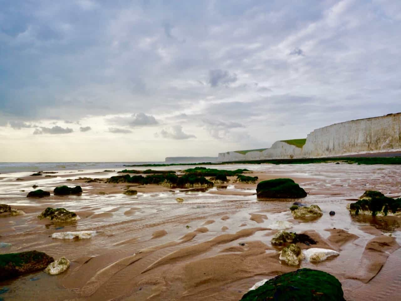 East Sussex Road Trip – View of the Seven Sisters from the beach