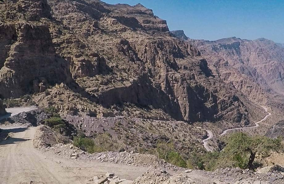 The stunning 4WD track across the Western Hajar Mountains takes in some of the best scenery in Oman.