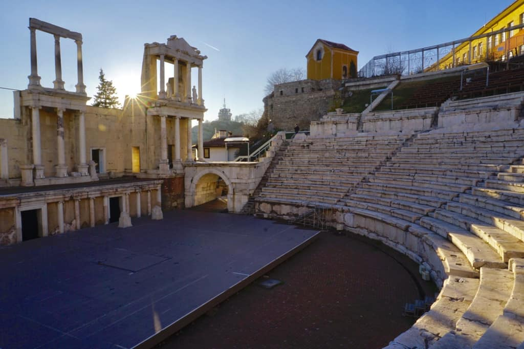 The ancient Roman Theatre of Plovdiv in Bulgaria.