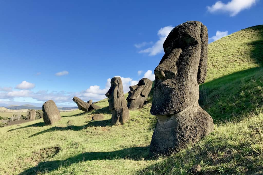 The moai of Easter Island, a travel highlight for us in 2017.