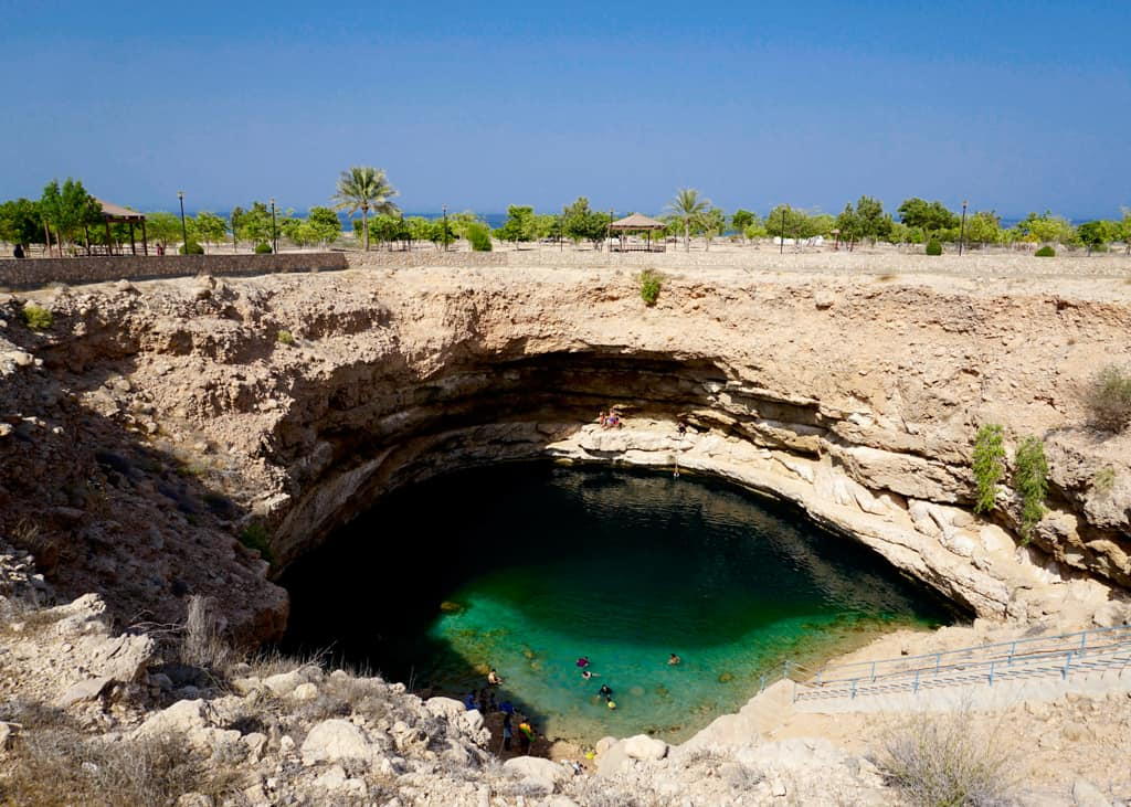 Beautiful pictures of Oman – the turquoise waters of Bimmah Sinkhole are almost impossible to resist.