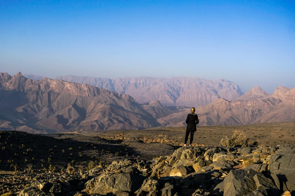 Sunset at Jebel Shams, One of the most iconic images of Oman.
