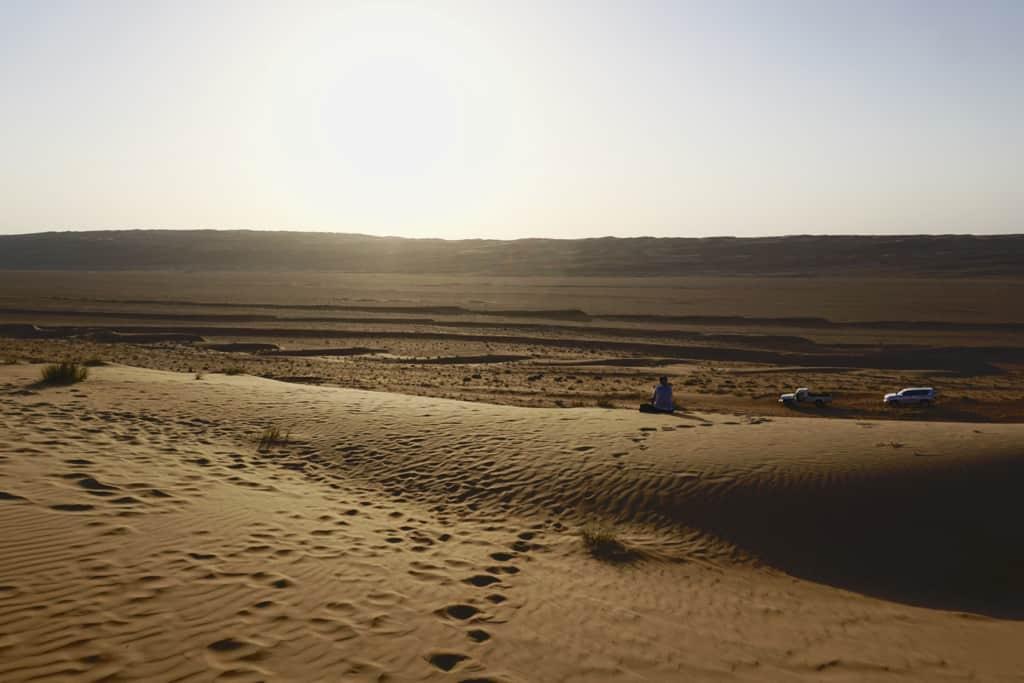 4WDriving through Sharqiya Sands in Oman.