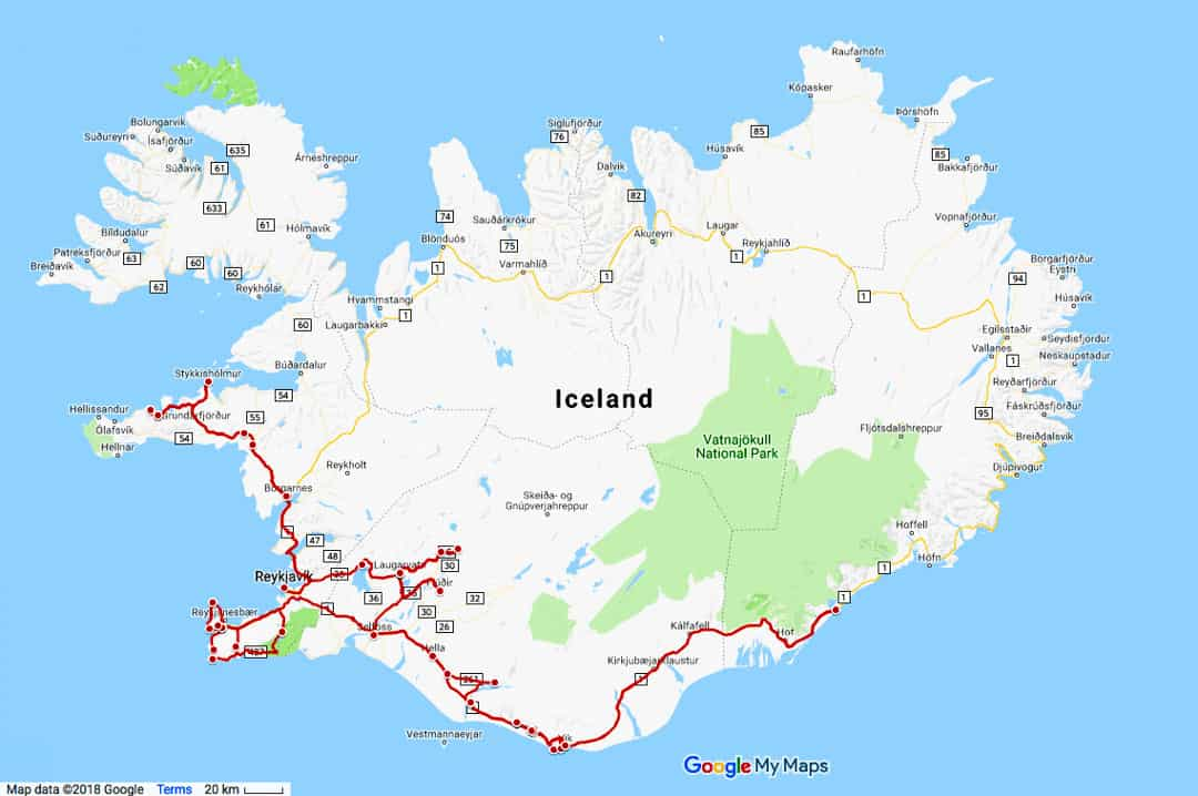 Self Drive Iceland Road Trip Itinerary